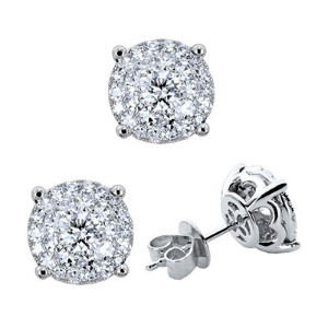 Illusion Diamond Earrings