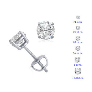White Gold Prong Set
