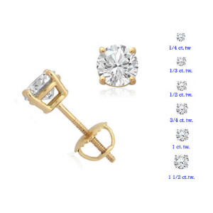 Yellow Gold Prong Set