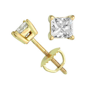 Yellow Gold princess cut