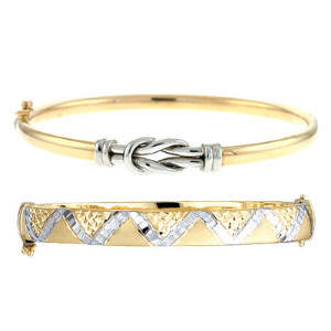 Fancy Two Tone Bangles