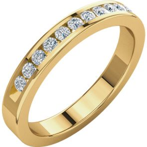 0.25ct Channel Set Diamond Band In 14k Yellow Gold.