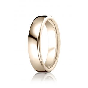 18k Rose Gold High Polished Contemporary Comfort Fit Band 5.5mm.