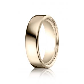 18k Rose Gold High Polished Contemporary Comfort Fit Band 6.5mm.
