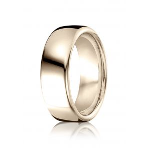 18k Rose Gold High Polished Contemporary Comfort Fit Band 7.5mm.
