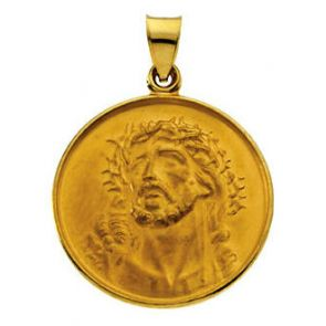18kt Yellow Gold 24.5mm Face of Jesus Medal