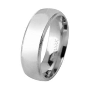 950 Palladium 7mm High Polished Comfort Fit Milgrain Design Wedding Band