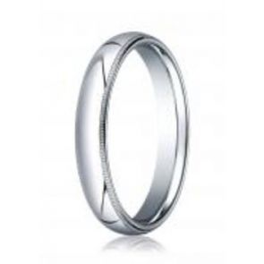 950 Palladium 4mm High Polished Comfort Fit Milgrain Wedding Band