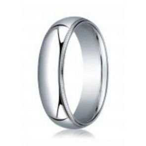 950 Palladium 6mm High Polished Comfort Fit Milgrain Design Wedding Band
