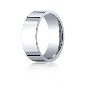 950 Palladium 8mm High Polished Flat Comfort Fit Wedding Band