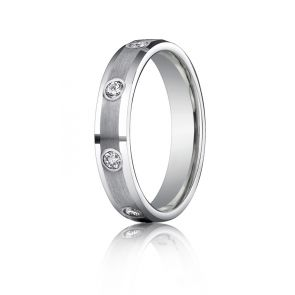 Palladium Diamond Band 4mm. 0.18ct
