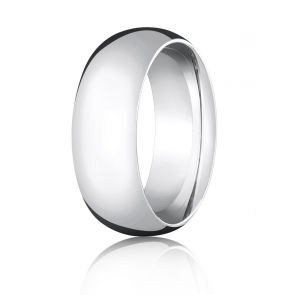 950 Palladium 8mm High Polished Comfort Fit Wedding Band