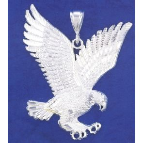 Sterling Silver 3 3/4 Inches Eagle Charm