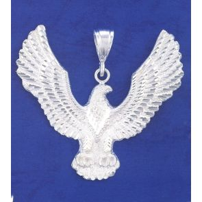 Sterling Silver  3 Inches Eagle Charm