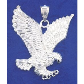 Sterling Silver  2 1/2 Inches Eagle Charm