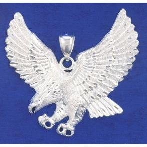 Sterling Silver  2 1/4 Inches  Eagle Charm
