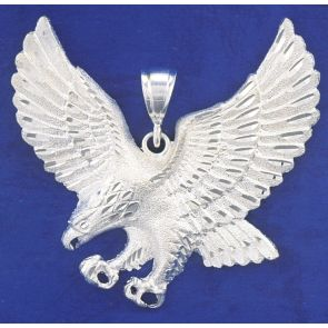 Sterling Silver  2 3/4 Inches Eagle Charm