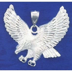 Sterling Silver  2 Inches Eagle Charm