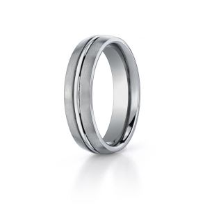 Titanium Modern 6mm Comfort-fit Satin-finished Band by Benchmark