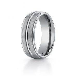 Titanium 8mm Comfort-fit Satin-finished Round Band by Benchmark